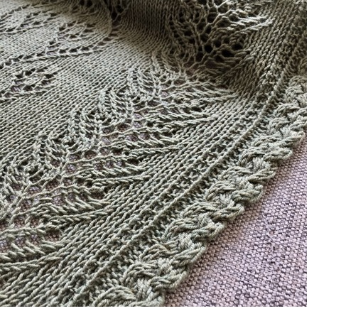 Spring Vines lace shawl